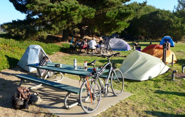 RV Campground on Pacific Coast Route