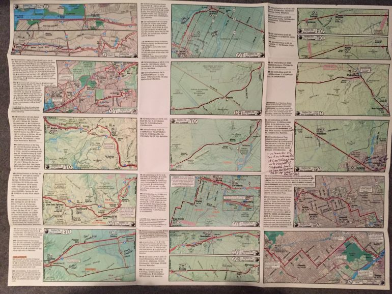 Preparations For Cycling Across The US The Southern Tier Route - Map of southern tier of us