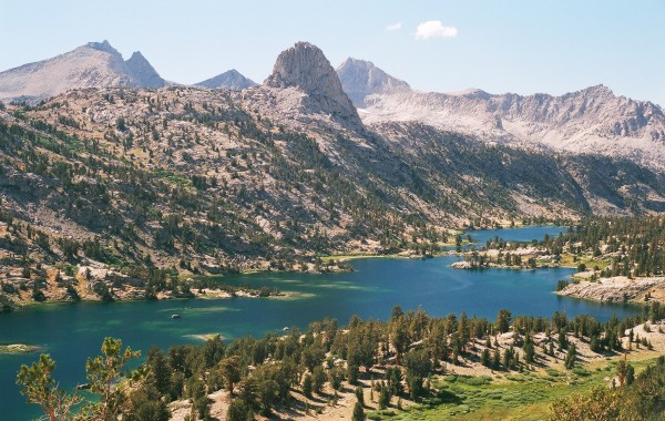 Rae Lakes and Fin Dome